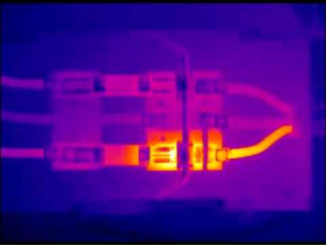 Thermal Image - Electrical wiring at connection point