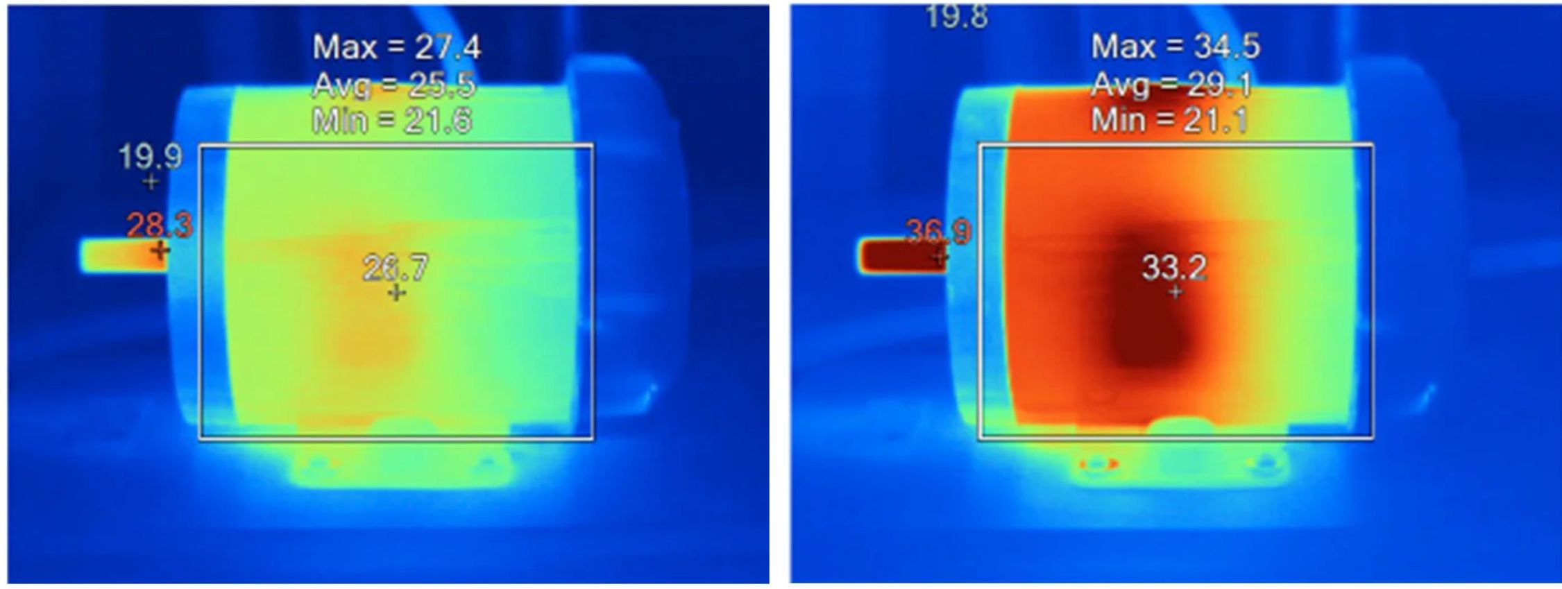 Thermal Image Motor benchmark comparison